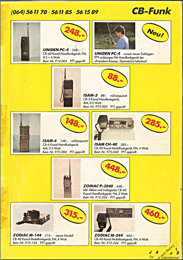 Swiss-CB Angebote Jacob (Catalogue (Suisse) 103_ca10