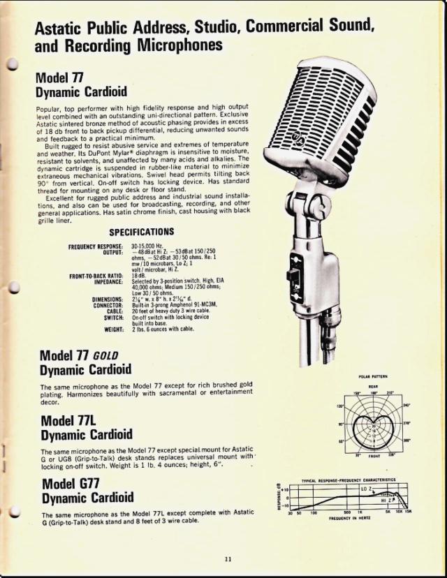 Astatic Microphones (Catalogue) 1118