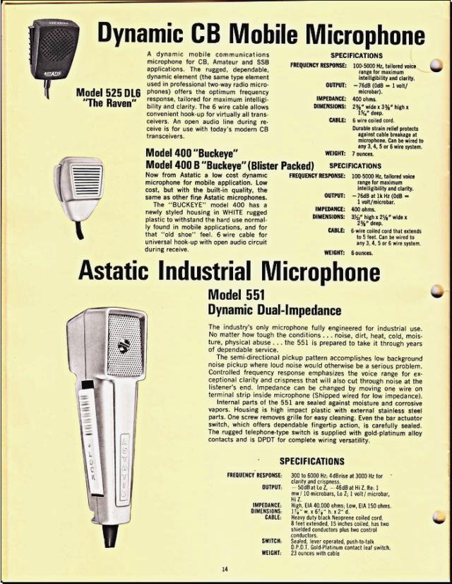 Astatic Microphones (Catalogue) 1415