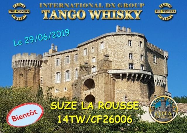 Activation Tango Whisky depuis le château de Suez la rousse (dpt.:26) (28-29 et 30 juin) 14twcf12