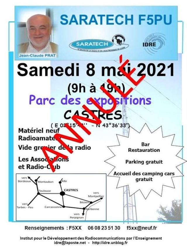(Annulé) Saratech F5PU (Castre (dpt 81) 08/05/2021 17274810