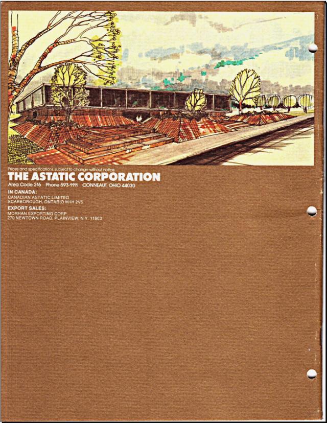 Astatic Microphones (Catalogue) 2116