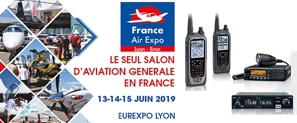 France AIR EXPO Lyon 2019 avec Icom France (dpt.: 69) (13, 14, 15/06/2019) 380-2010
