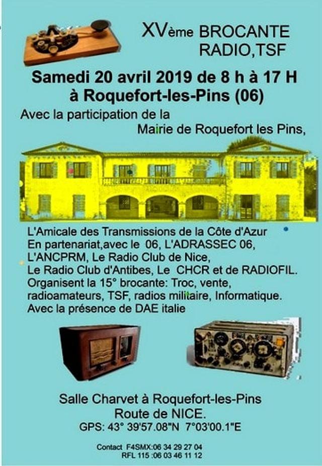 XVème brocante Radio, TSF à Roquefort-les-Pins (06) (20/04/2019) 49419610