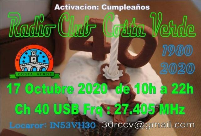 club - Activation Cumpleanos du Radio Club Costa Verde (Espagne) (17/10/2020) 62395410
