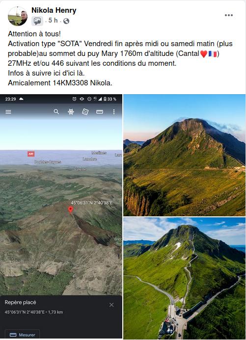 (Annulée) Activation 14KM3308 sur le Puy Mary (Cantal)  (07 et 08/05/2021) Activa10