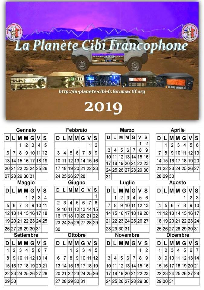 Calendrier 'La Planète Cibi Francophone' 2019 Alfred10