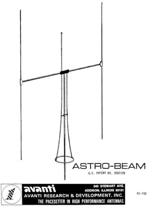 Avanti Astro-Beam (Antenne fixe Directive/Vertical) Avanti11