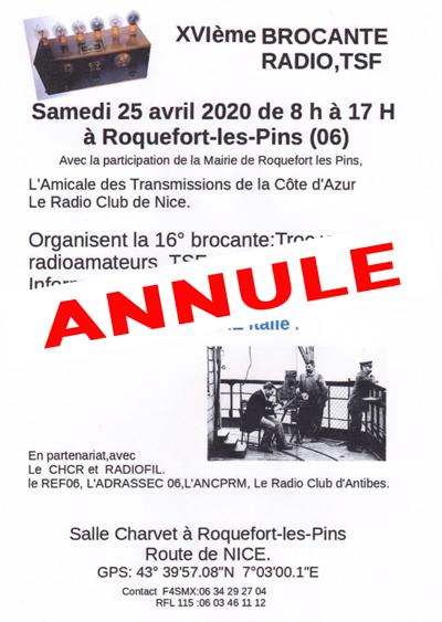 [Annulé] Brocante radio TSF de Roquefort-Les-Pins (06) (25 avril 2020) Brocan11