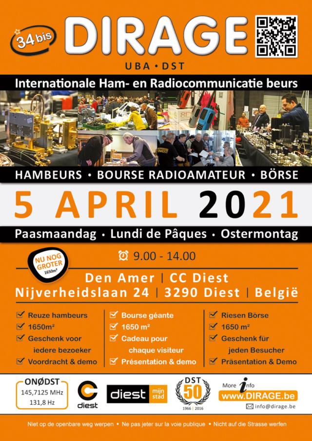 DIRAGE - Dirage . Hambeurs . Bourse Radioamateur . borse (Belgique) (5/04/2021) Dirage11