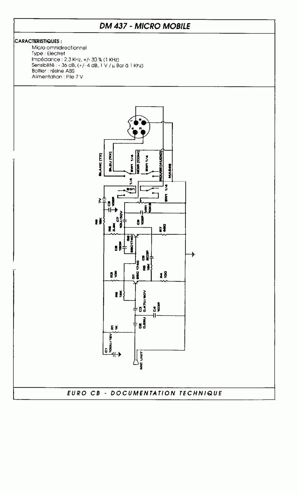 EuroCB DM-437 (Pan DM-437 (Micro mobile) Dm437-10