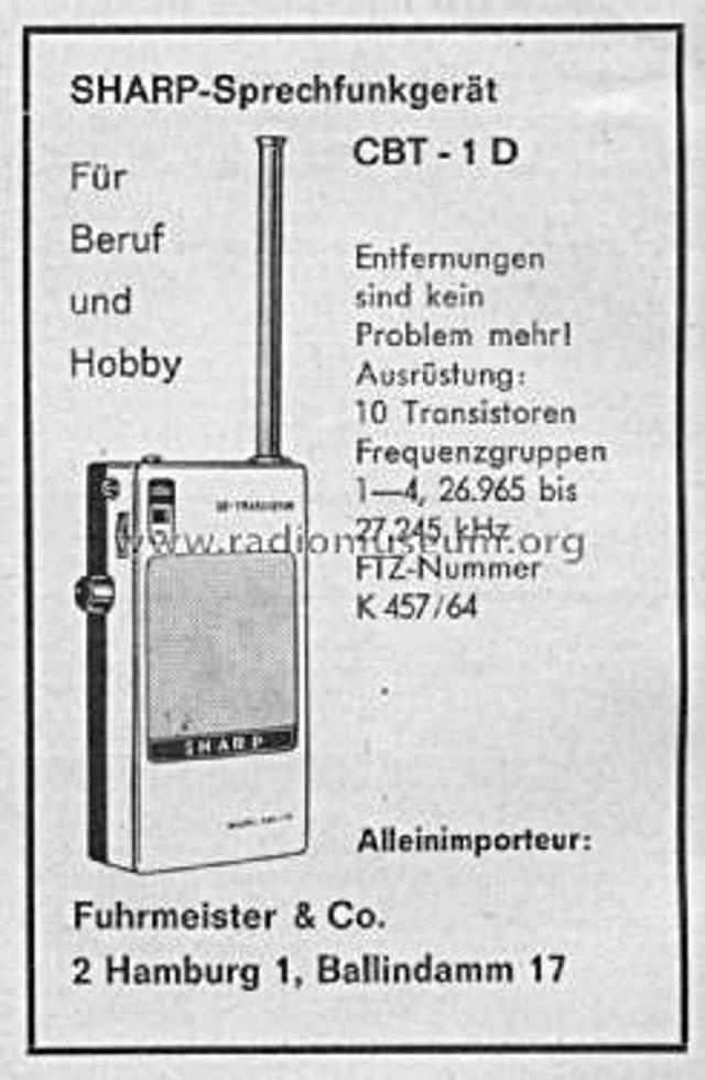 Sharp CBT-1 D (Portable) Fiche_10