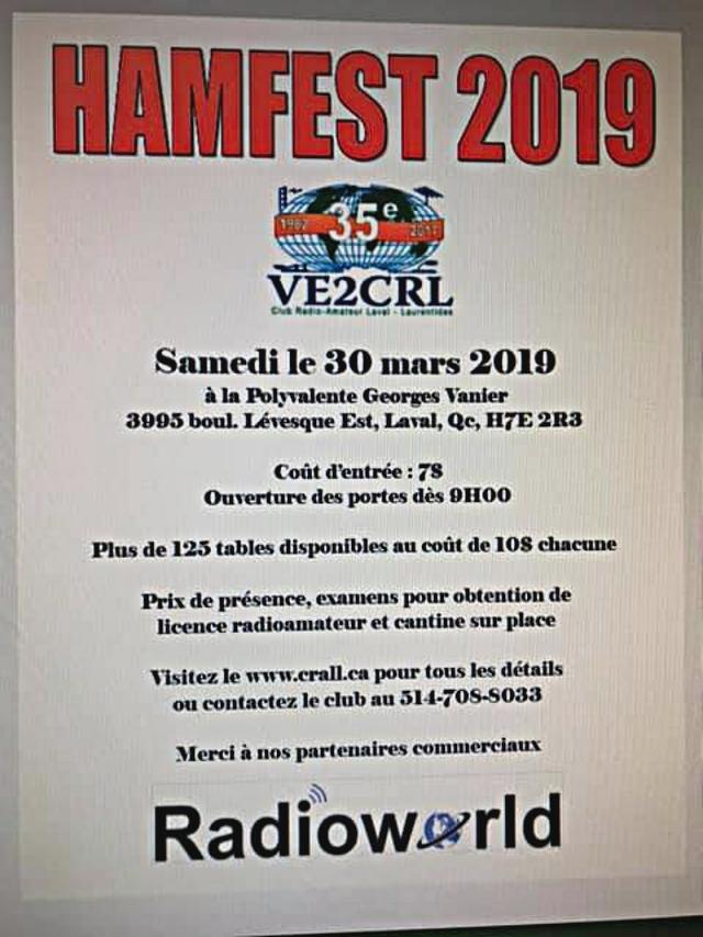 35è Hamfest 2019 VE2CRL - Laval (Québec) (30/03/2019) Hamfes11