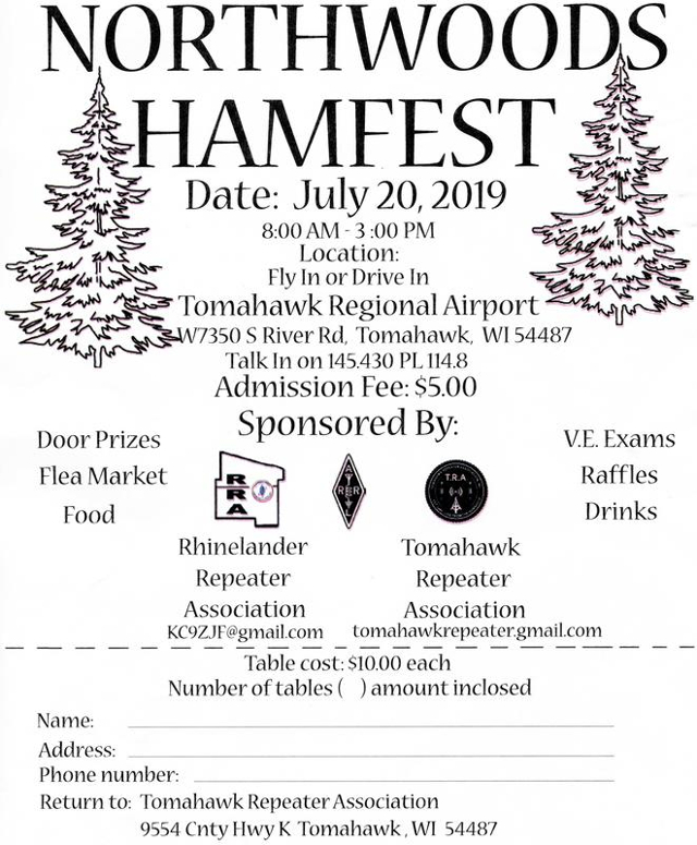 Northwoods Hamfest - Tomahawk Wisconsin (USA) (20/07/2019) Northw10