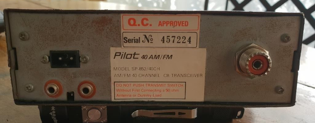 Pilot 40 AM/FM SP-852 (Mobile) Pilot-10