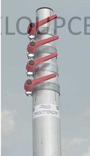 Poignée de serrage rapide M8 pour mat télescopique Poigne10
