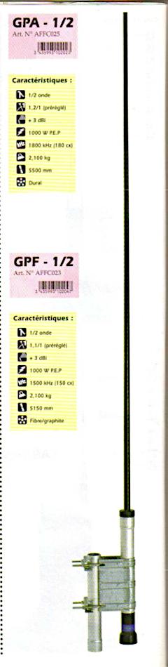 President GPA-1-2 / GPF-1-2 (Antenne fixe) Presid60