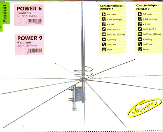 President Power 6 / Power 9 (Antenne fixe) Presid78