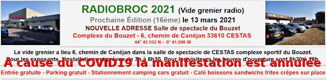 (Annulée) Radiobroc 2021 (Vide grenier radio) Cestas dpt.33 (13 mars 2021) Radiob14