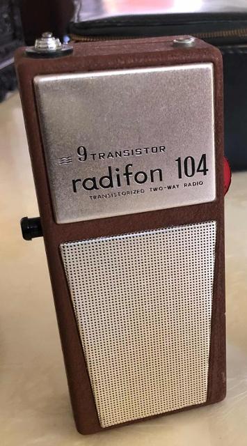 Radifon 104 . 9 Transistor (Portable) Walkie12