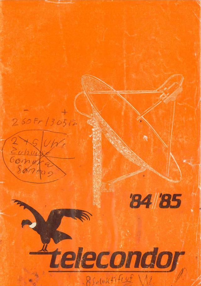 Telecondor Suisse 84/85 Ztelec10