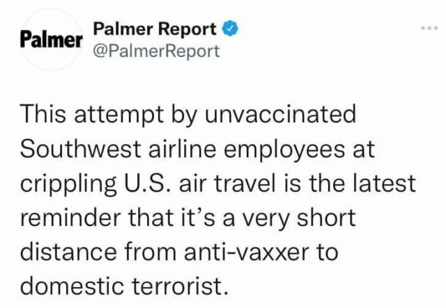 """Odlične vijesti iz USA - sustav se raspada radi """"antivaxera""""(kriv je trump ili sunčano vrijeme) Avion410"""