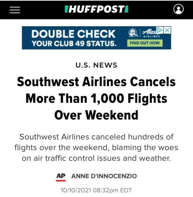 """Odlične vijesti iz USA - sustav se raspada radi """"antivaxera""""(kriv je trump ili sunčano vrijeme) Avioni11"""