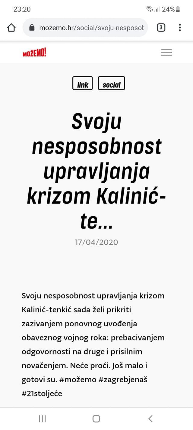 Liberal.hr - Tomašević je novi Bandić -od revolucije nema ništa Mozemo10
