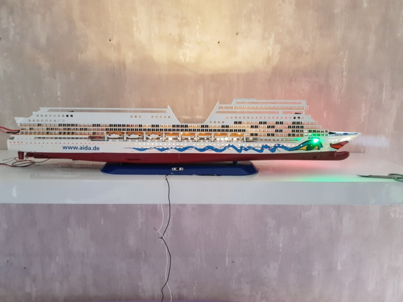 Aida die 2te / Revell,  1:400 mit LED Beleuchtung  20200727