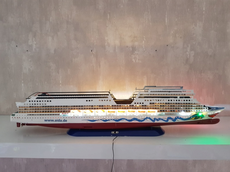 Aida die 2te / Revell,  1:400 mit LED Beleuchtung  20200729