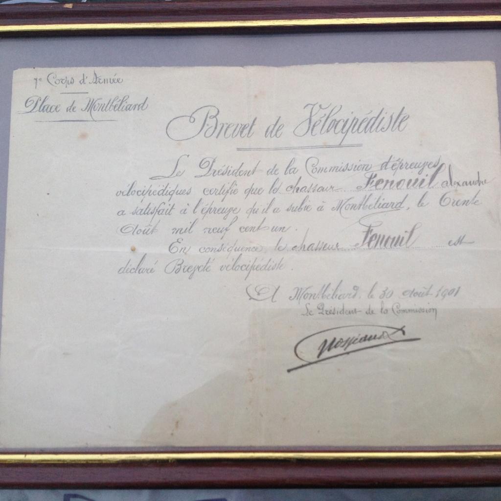 Brevet de vélocipèdiste 1901 Image23