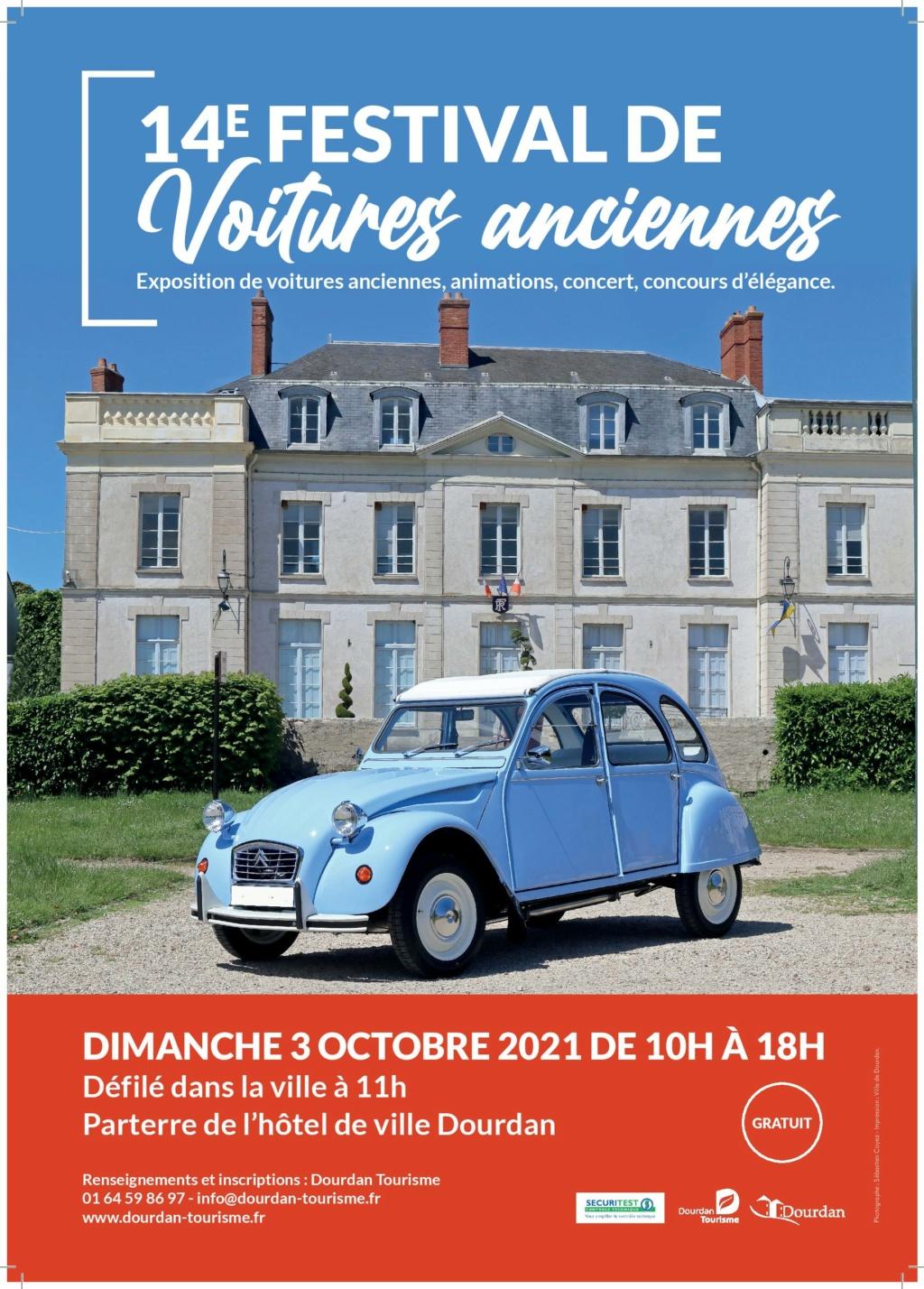 14ème festival de voitures anciennes de Dourdan Affich10