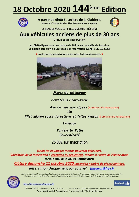 144ème Rendez-Vous de la Reine - Rambouillet - 18 octobre 2020 Annonc11