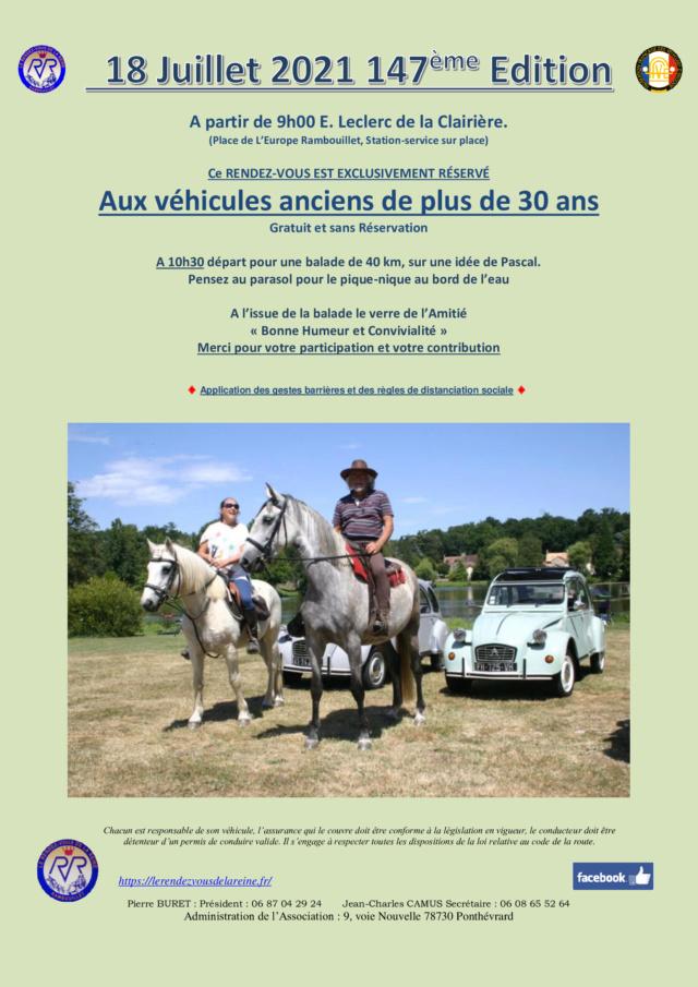 147ème Rendez-Vous de la Reine - Rambouillet, le 18 juillet 2021 Annonc14