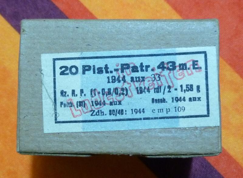 7,92 x 33 Kurz Patrone - Pistolen Patrone 43 m.E 2_pist10