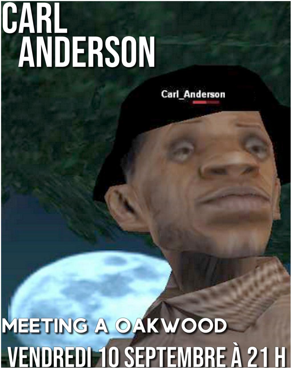 (AFFICHE) Meeting de Carl ANDERSON à Oakwood Meetin10
