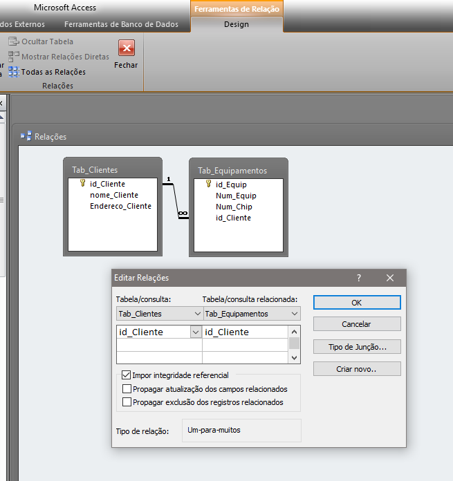 [Resolvido]Atualizar campo de tabela a partir de campo correspondente de outra tabela (Access) Relaci13