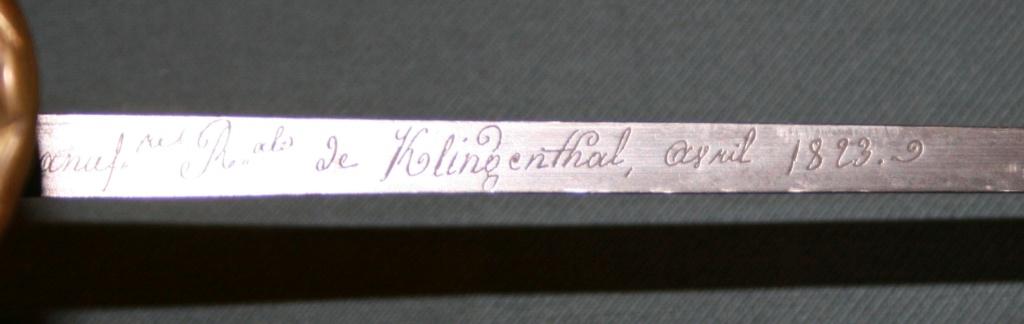 Sabres d'officier matriculés, au Modèle 1822 de ligne : point de situation Dos_de10