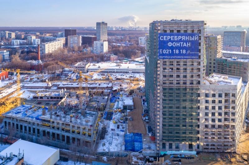 """Ход строительства 2 корпуса ЖК """"Серебряный фонтан"""" 611"""