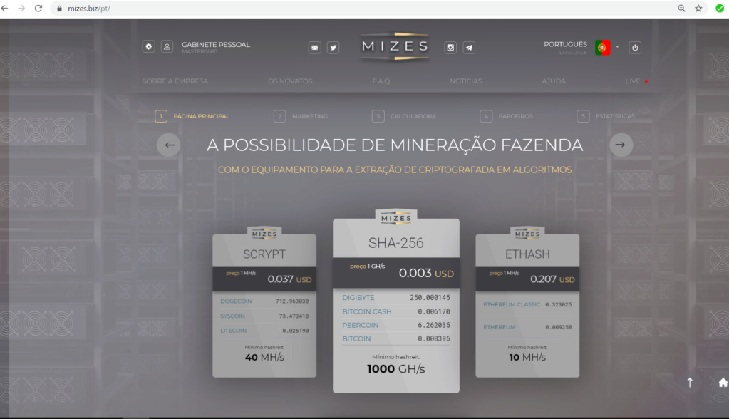 OPORTUNIDADE  [PROVADO] Mizes - Plataforma minedora de BTC, ETH entre outras... 110