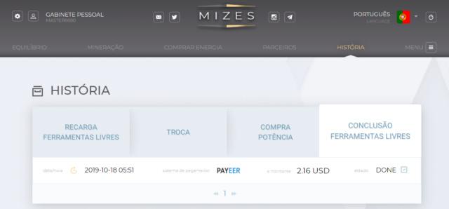 OPORTUNIDADE  [PROVADO] Mizes - Plataforma minedora de BTC, ETH entre outras... Miza10
