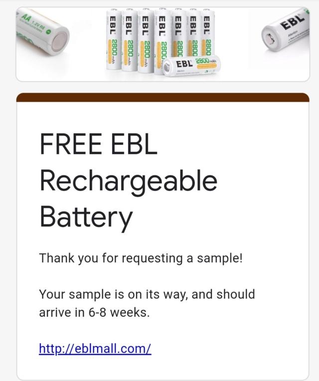 Pila recargable gratis (AA) Screen23