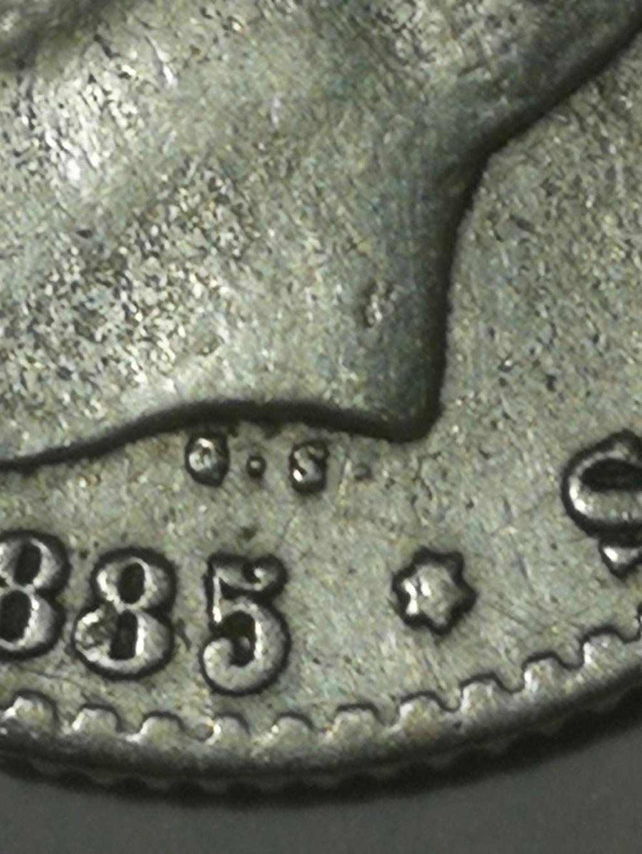 Contramarca o símbolo de coleccionista en 5 pesetas de Alfonso XII Img_2028