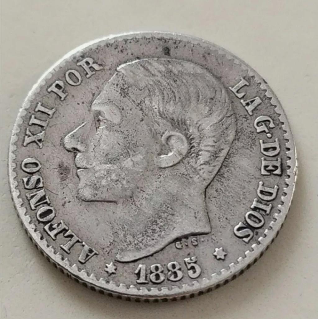 Contramarca o símbolo de coleccionista en 5 pesetas de Alfonso XII Screen14