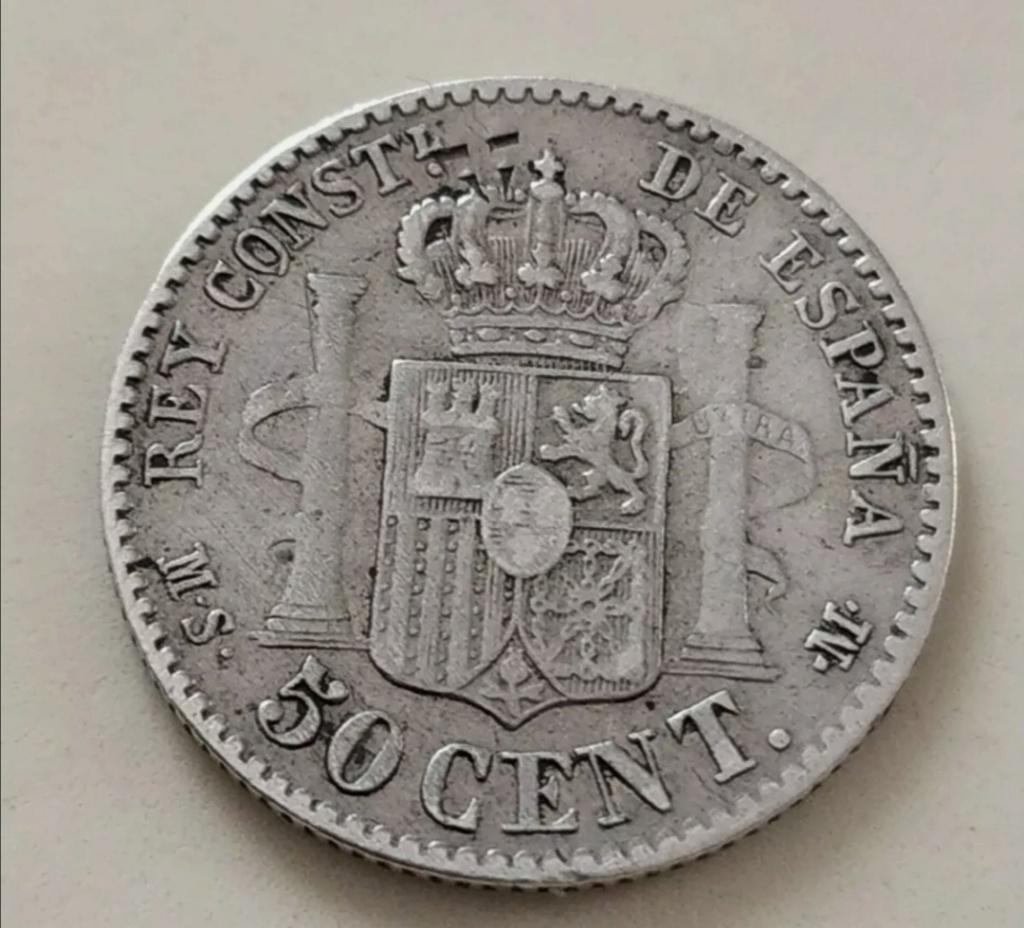 Contramarca o símbolo de coleccionista en 5 pesetas de Alfonso XII Screen15
