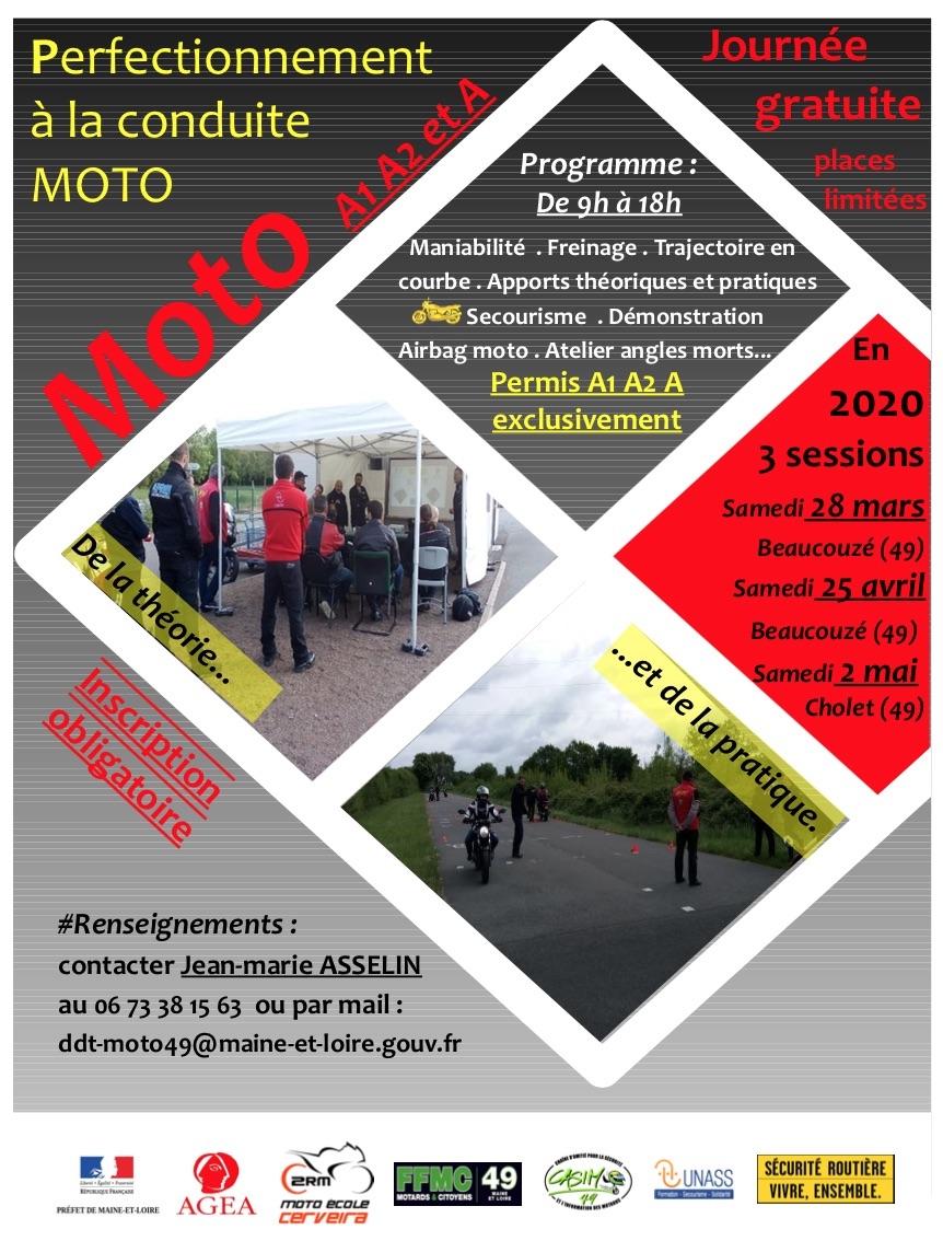MANIFESTATION - Stages gratuits de Perfectionnement à la conduite moto dans le 49 Stage_10
