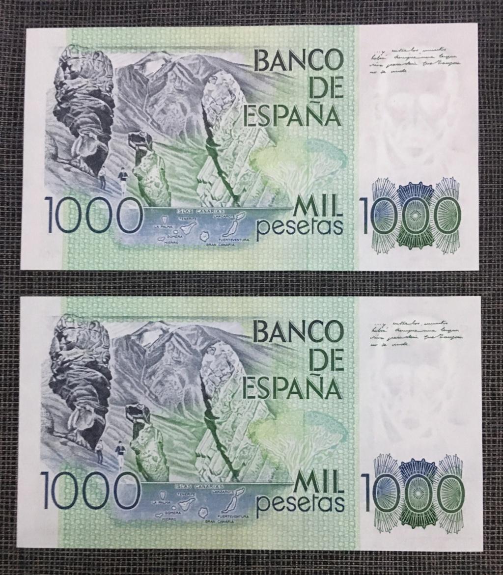 "1000 pesetas 1979 - PAREJA CORRELATIVA "" ÚLTIMA SERIE "" 20190215"