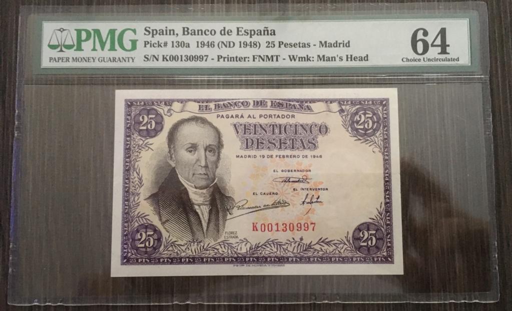 25 PESETAS 1946 SERIE K 2dd4f510