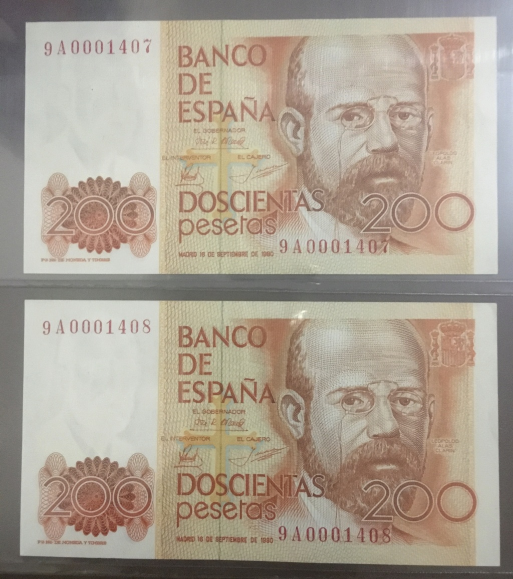 Número más bajo/alto de... 200 pesetas 1980 Serie 8 y 9 42c46d10