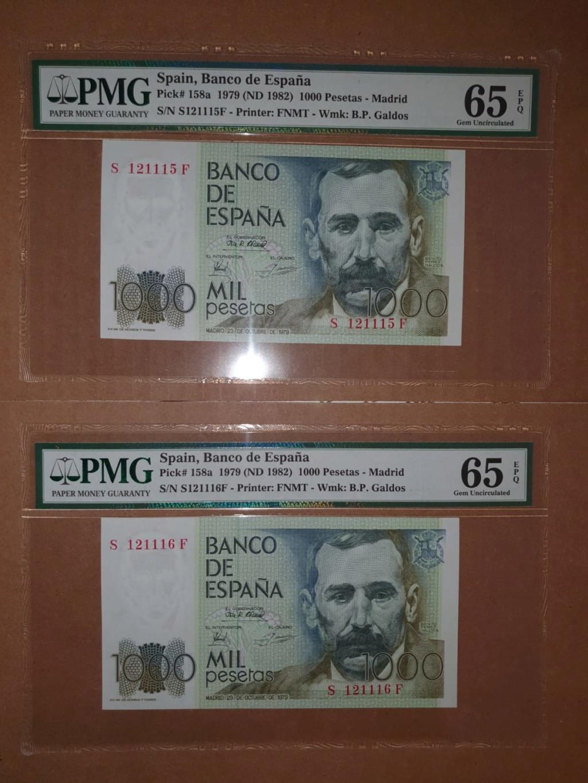 """1000 pesetas 1979 - PAREJA CORRELATIVA """" ÚLTIMA SERIE """" A8122510"""